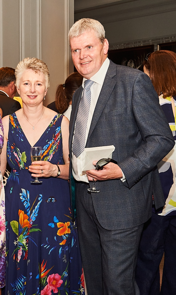 Above: Marion and Mark Flaherty at the recent Retas event as Best Wishes was a finalist.