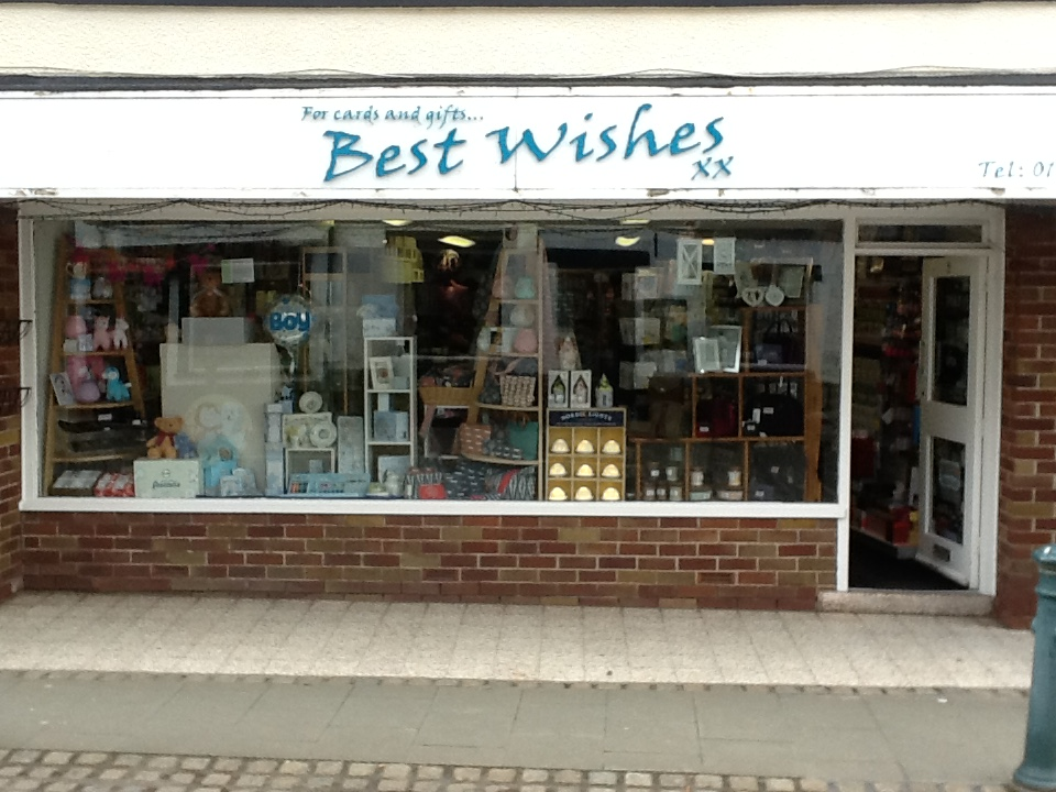 Above: Best Wishes in Garstang shouts out for Lancashire's charms.