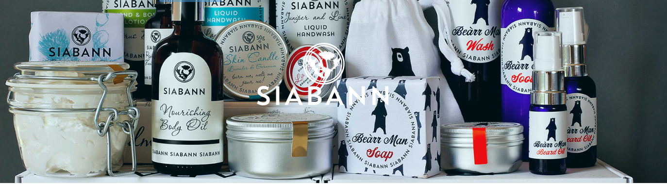 Above: The Siabann products are made from the finest natural ingredients.