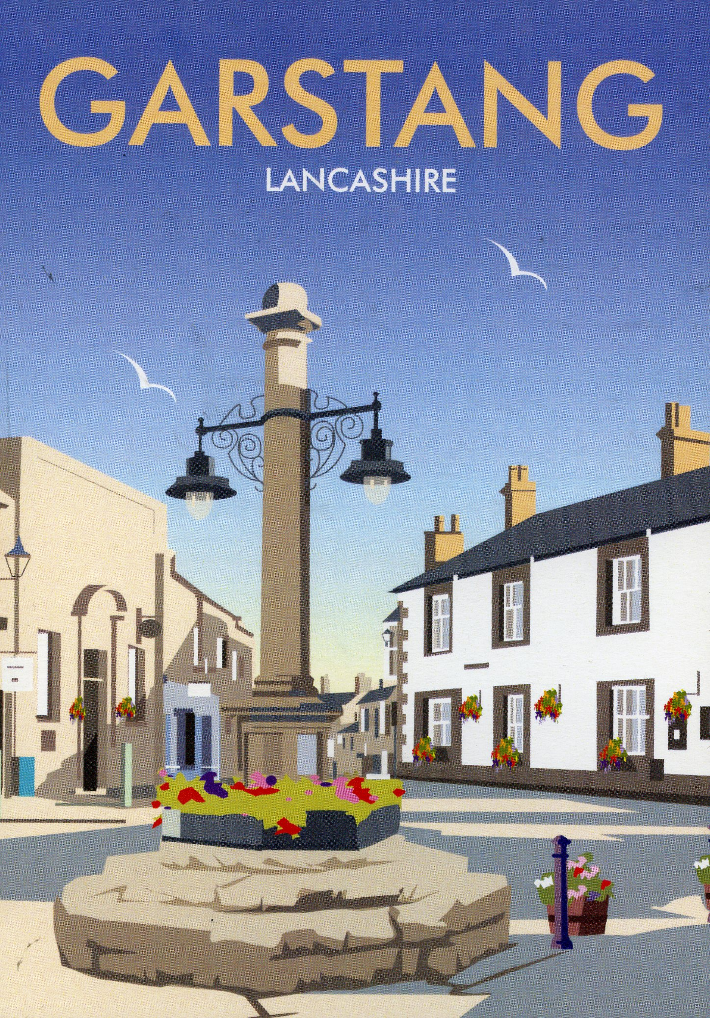 Above: A Garstang greeting card from Star Editions that is stocked by Best Wishes.
