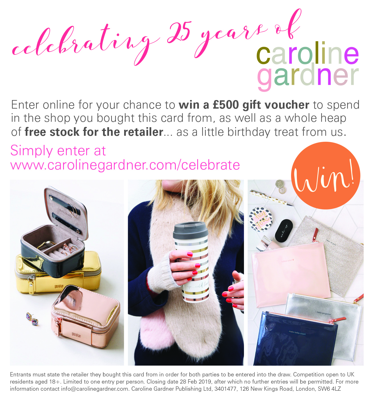 Above: The Caroline Gardner competition offered £800 in prizes.
