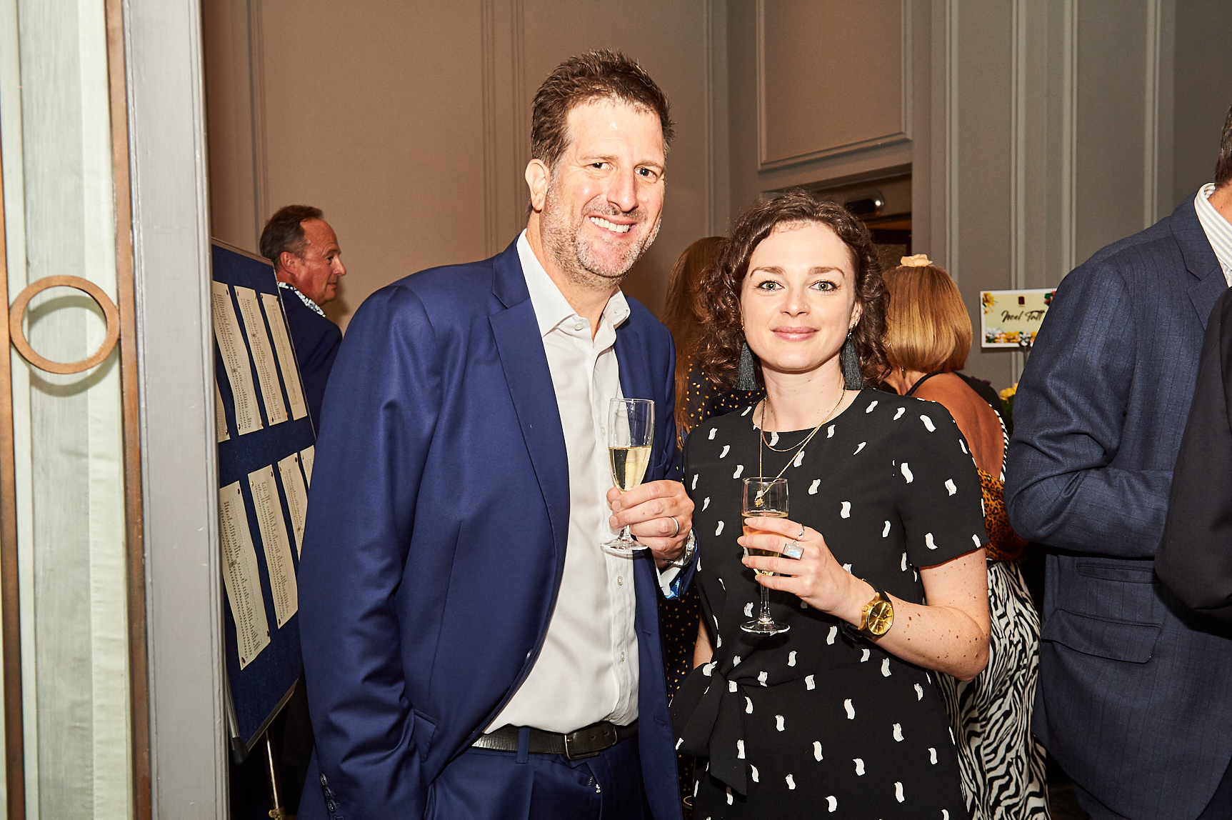Above: David Byk, ceo of Swan Mill with Ling's marketing manager Amelia Strawson at the recent Retas awards.