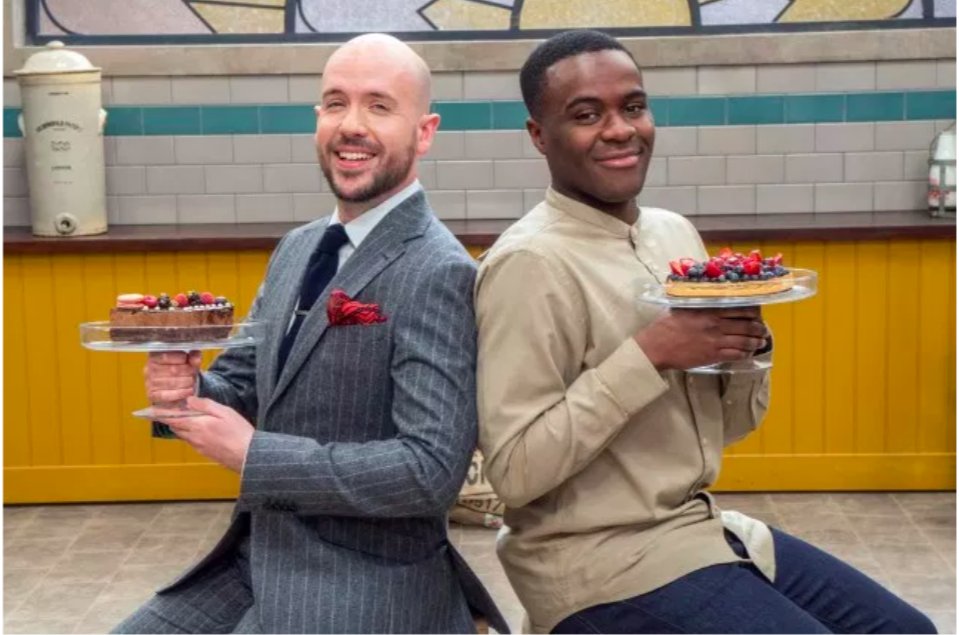 Above: Tom Allen (left) co-hosting Bake Off: The Professionals with Liam Charles extended the comedian's fanbase even wider.