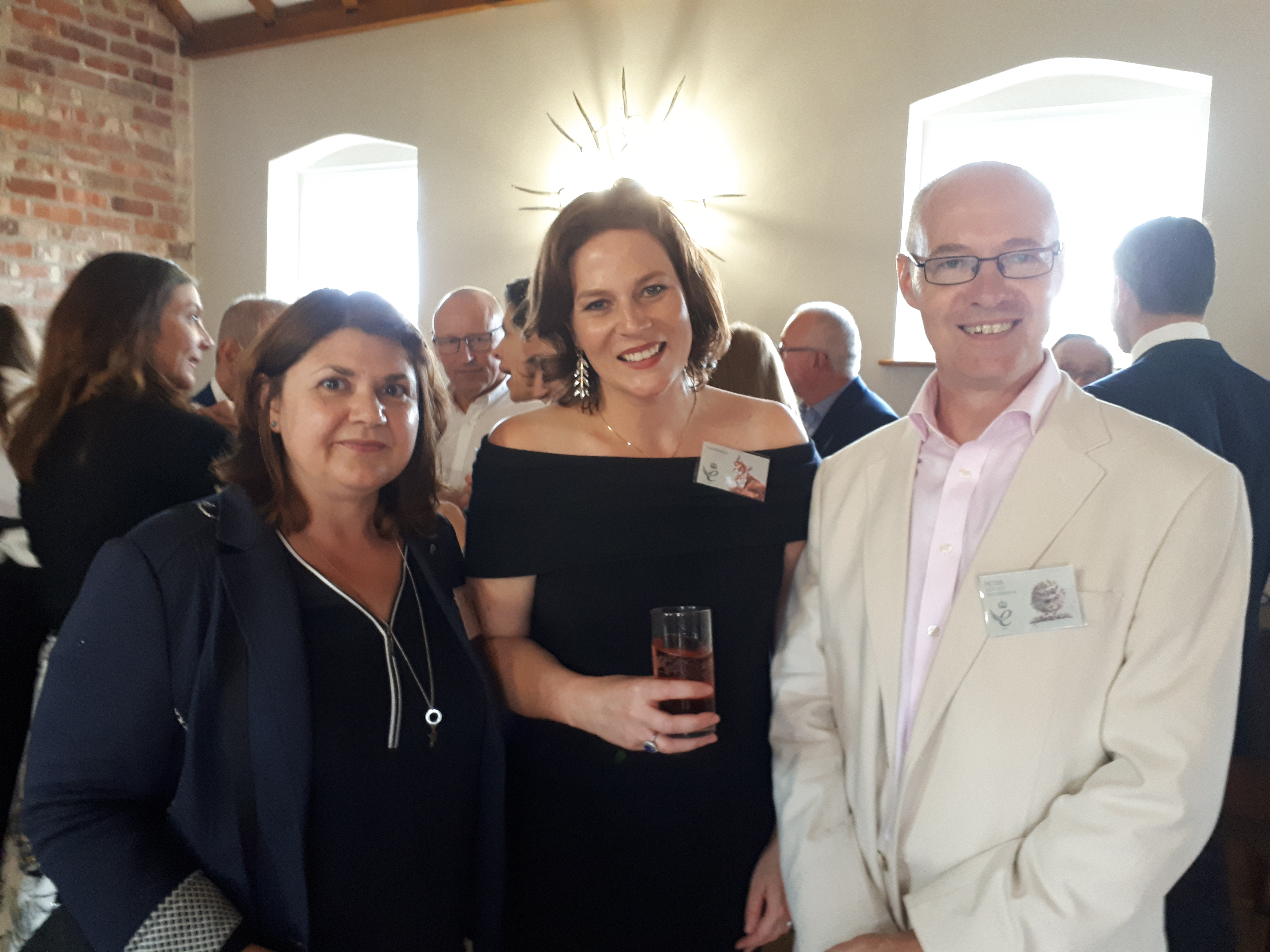 Above: Dzodzo Gallery's Pete and Jelena (right) Whiteman with Wrendale's Hannah Dale.