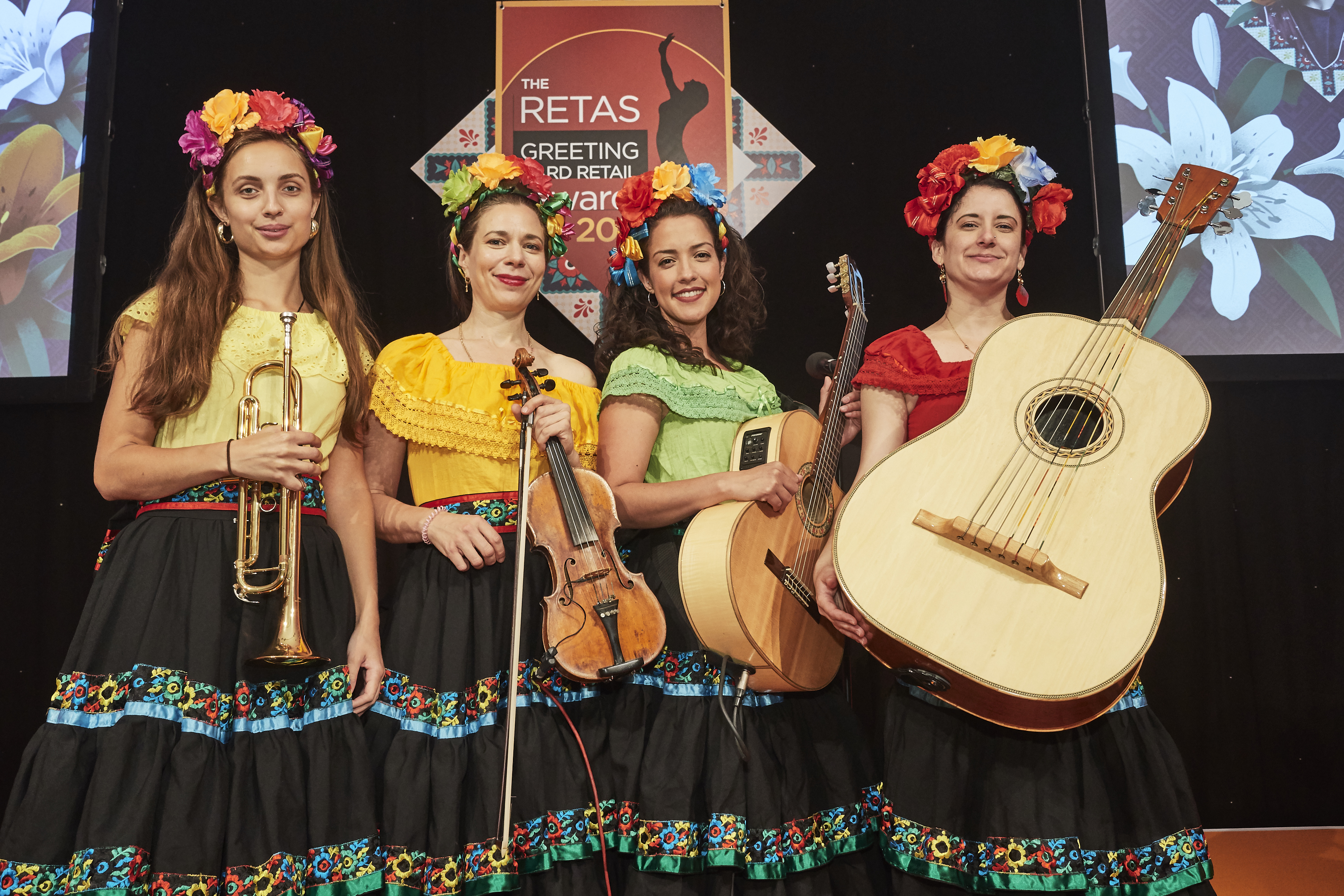 Above: The Adelitas all-female mariachi band hit the high notes at The Retas.