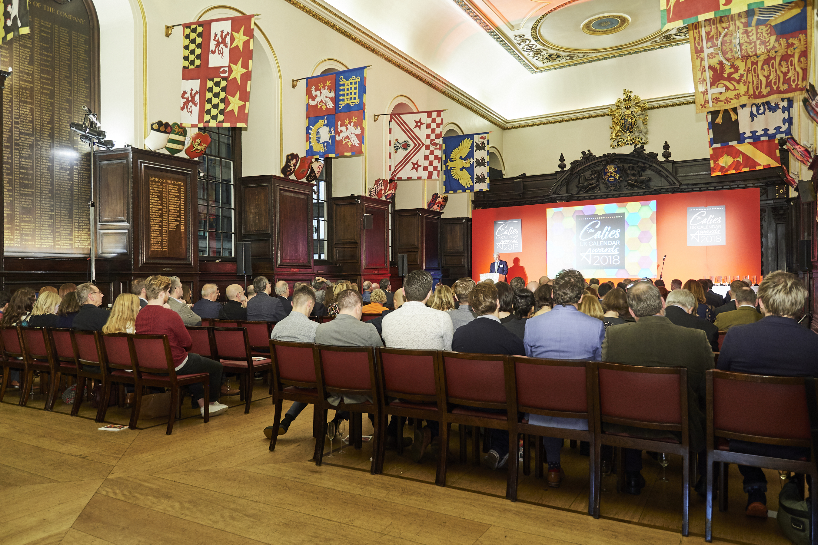 Above:The Calies 2019 will once again take place at Stationers' Hall.