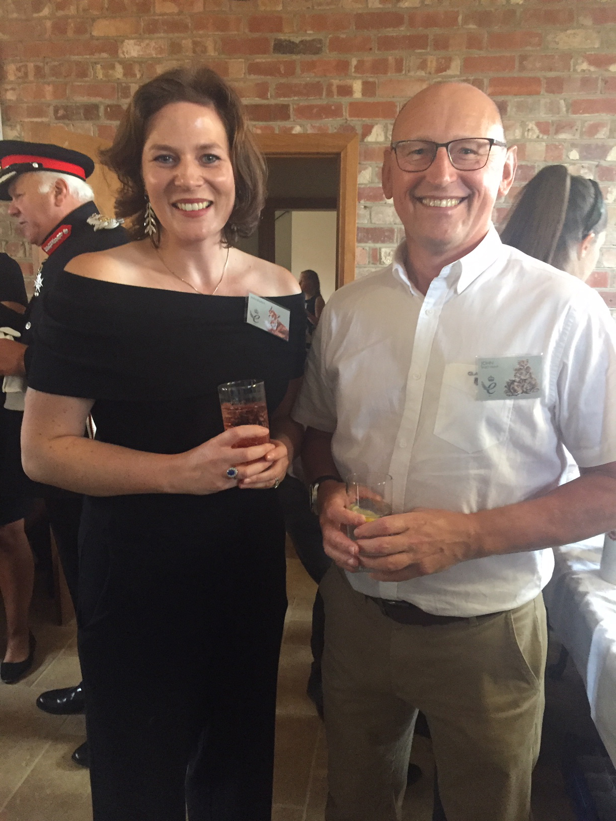 Above: John Skeet of Skeet Print, who gave a lovely speech at the event, with Hannah Dale.