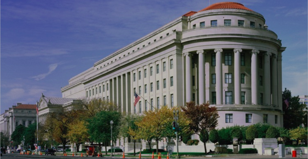 Above: The US Trade Commission in Washington DC where George and Sarah  made their pleas for cards to be excluded from the tariffs.