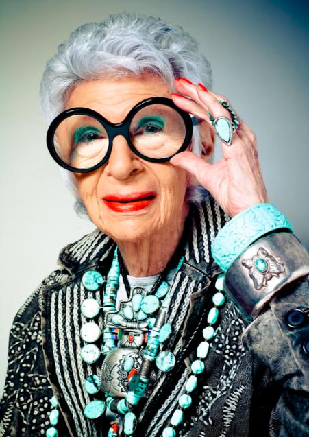 Above: The super stylish Iris Apfel.