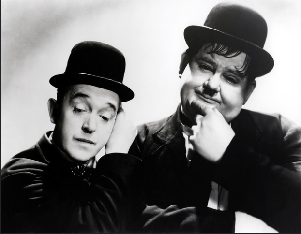 Above: Laurel and Hardy would always be very welcome at Boroughbridge Post Office.
