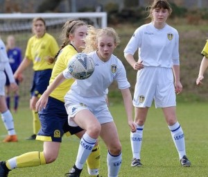 Above: Holly Orr, who is sponsored by Wendy Jones-Blackett is turning professional next season to play for Leeds United Ladies team, aged only 16.