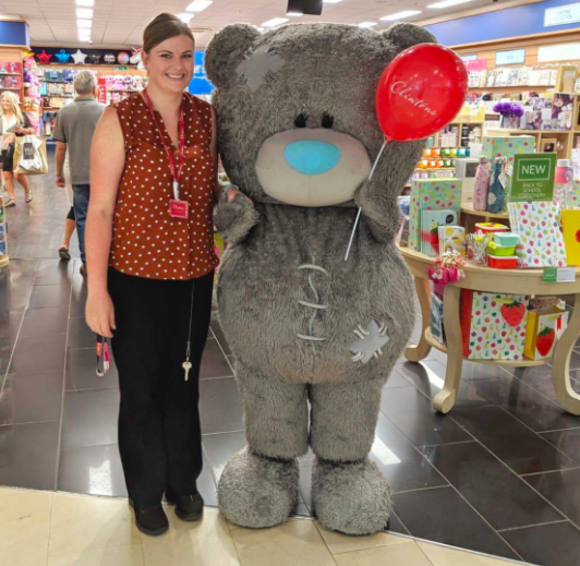 Above: Tatty Teddy is pretty busy making appearance in Clintons' stores at the moment.