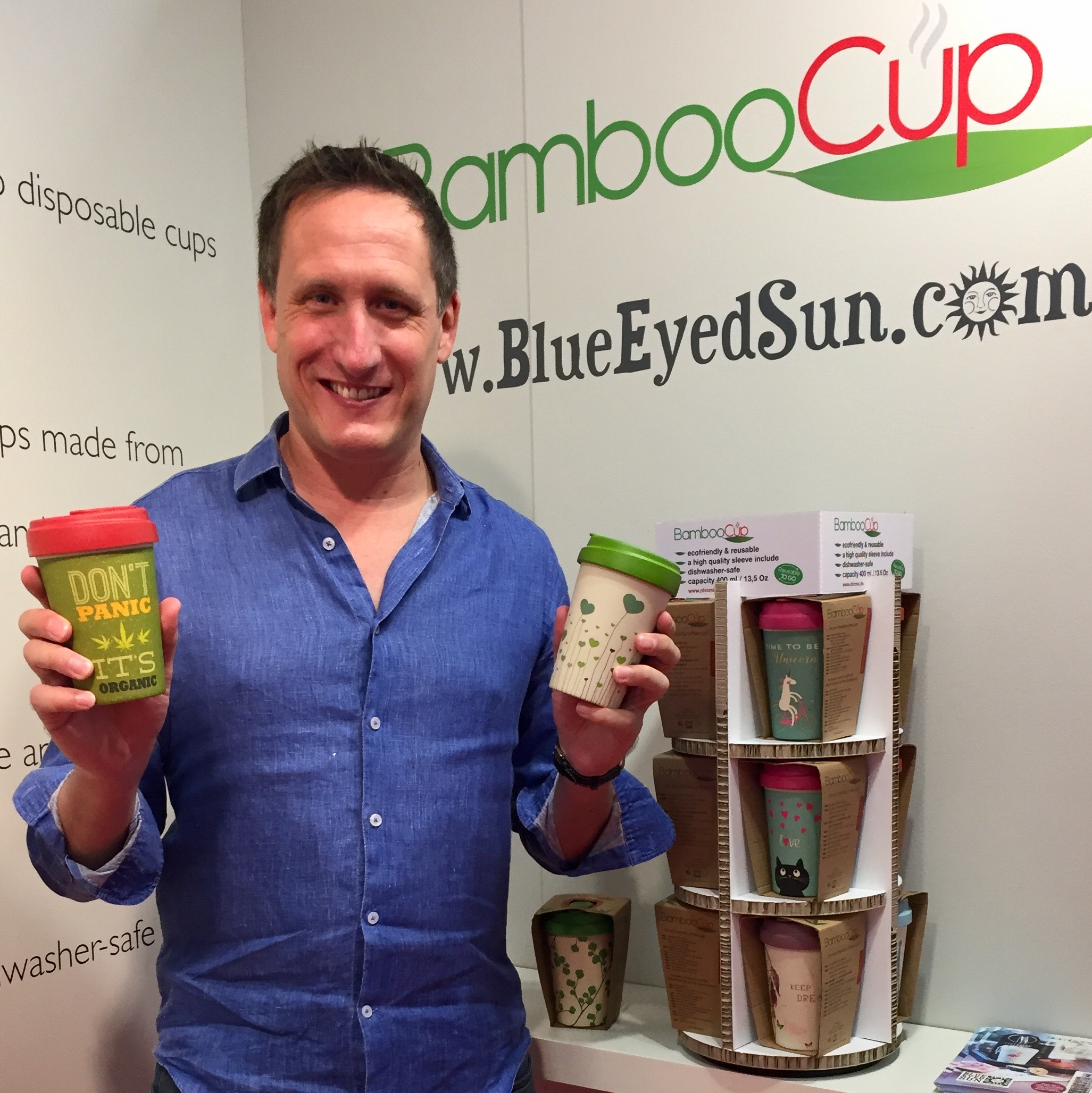 Above: Jeremy Corner, md of Blue Eyed Sun, which is the UK distributor for BambooCup is to speak out on sustainability.