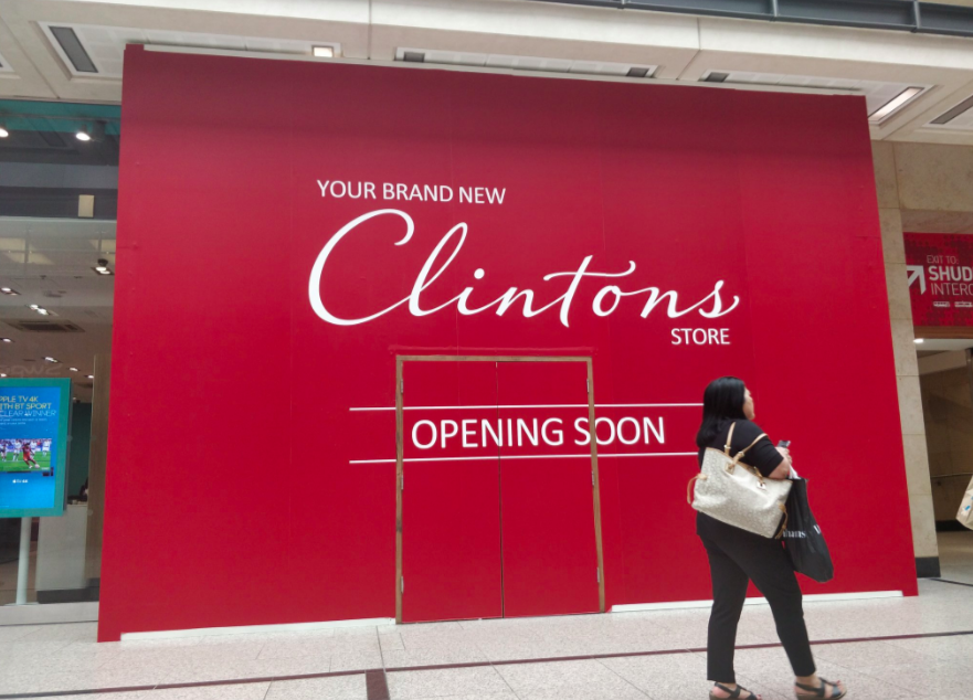 Above: Clintons has recently relocated its central Manchester store.