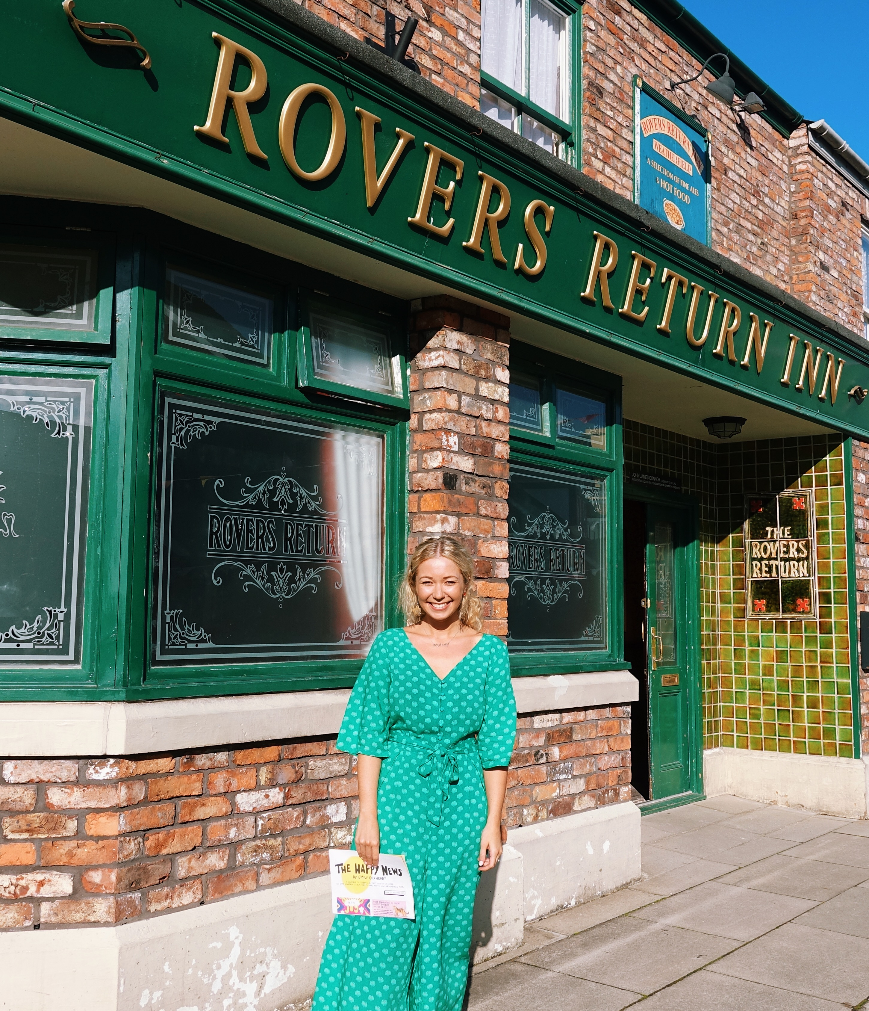 Above: Emily was thrilled to be on the Corrie set!
