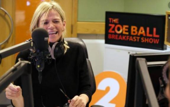 Above: BBC Radio 2 DJ Zoe Ball gave The Happy News a big plug on her show.