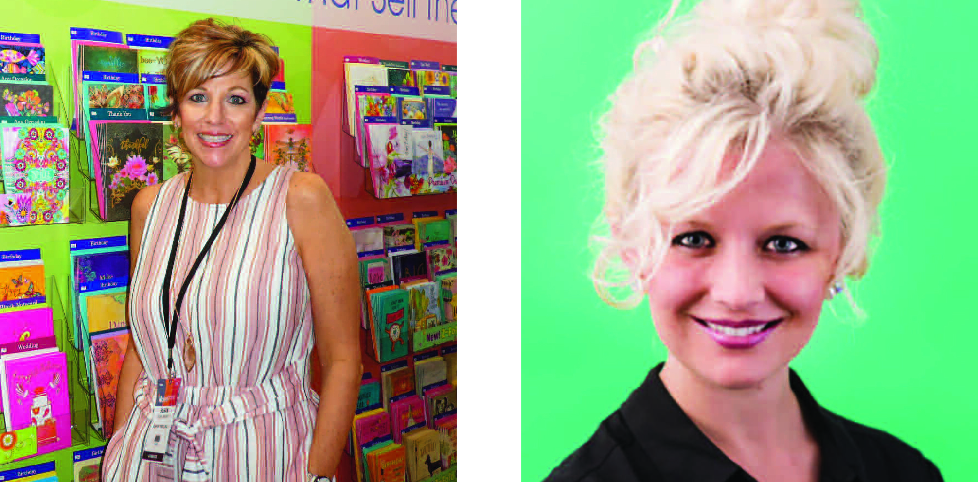 Above: Paper Source's Sadie Piller (above left) will share insight from a retail perspective at the Retreat while LeaninTree's Susan January (pictured at the inaugural Noted exhibition in May) has spearheaded the whole event as chairperson.