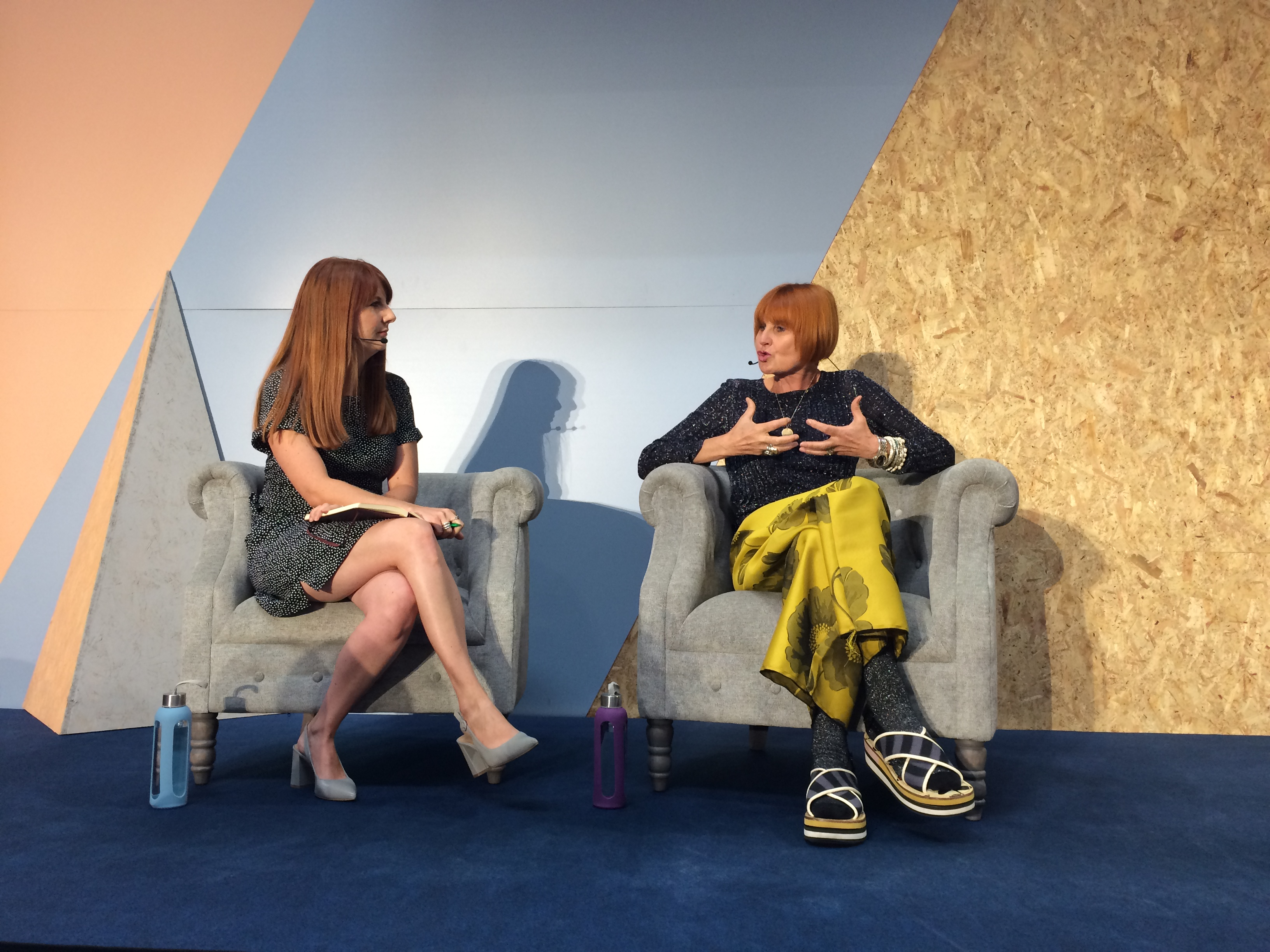Above: Mary Portas was interviewed by Ashley Armstrong, retail editor of The Times on stage at Autumn Fair this week.