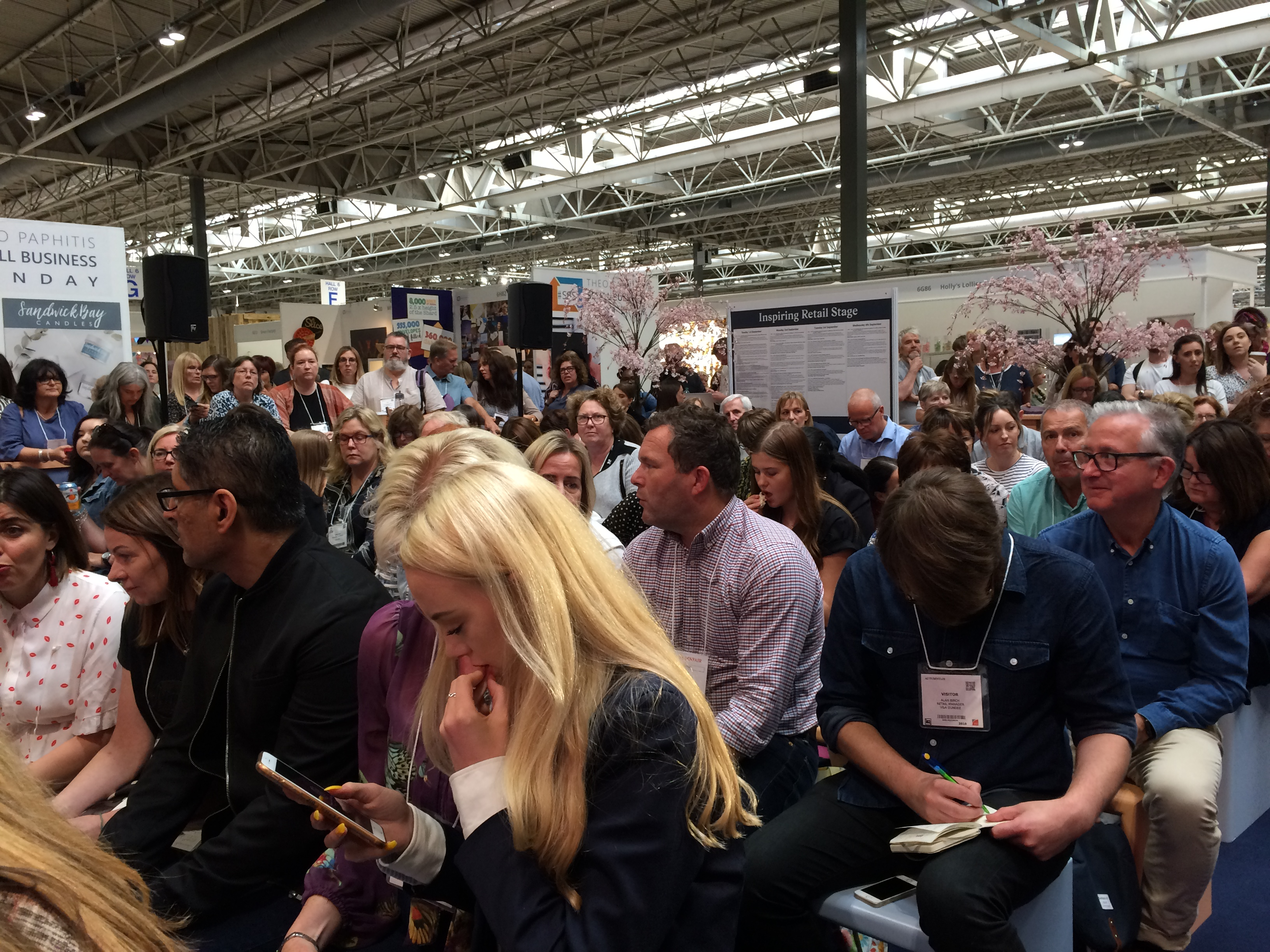 Above: It was a packed house with retailers and exhibitors crowding in to hear what Mary had to say.