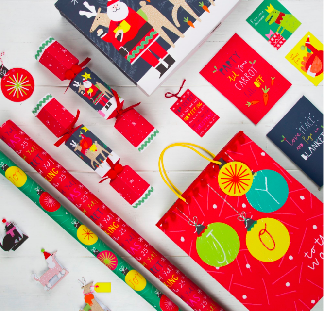 Above: The patterns will carry the M&S Christmas range this year rather than sparkly glitter.
