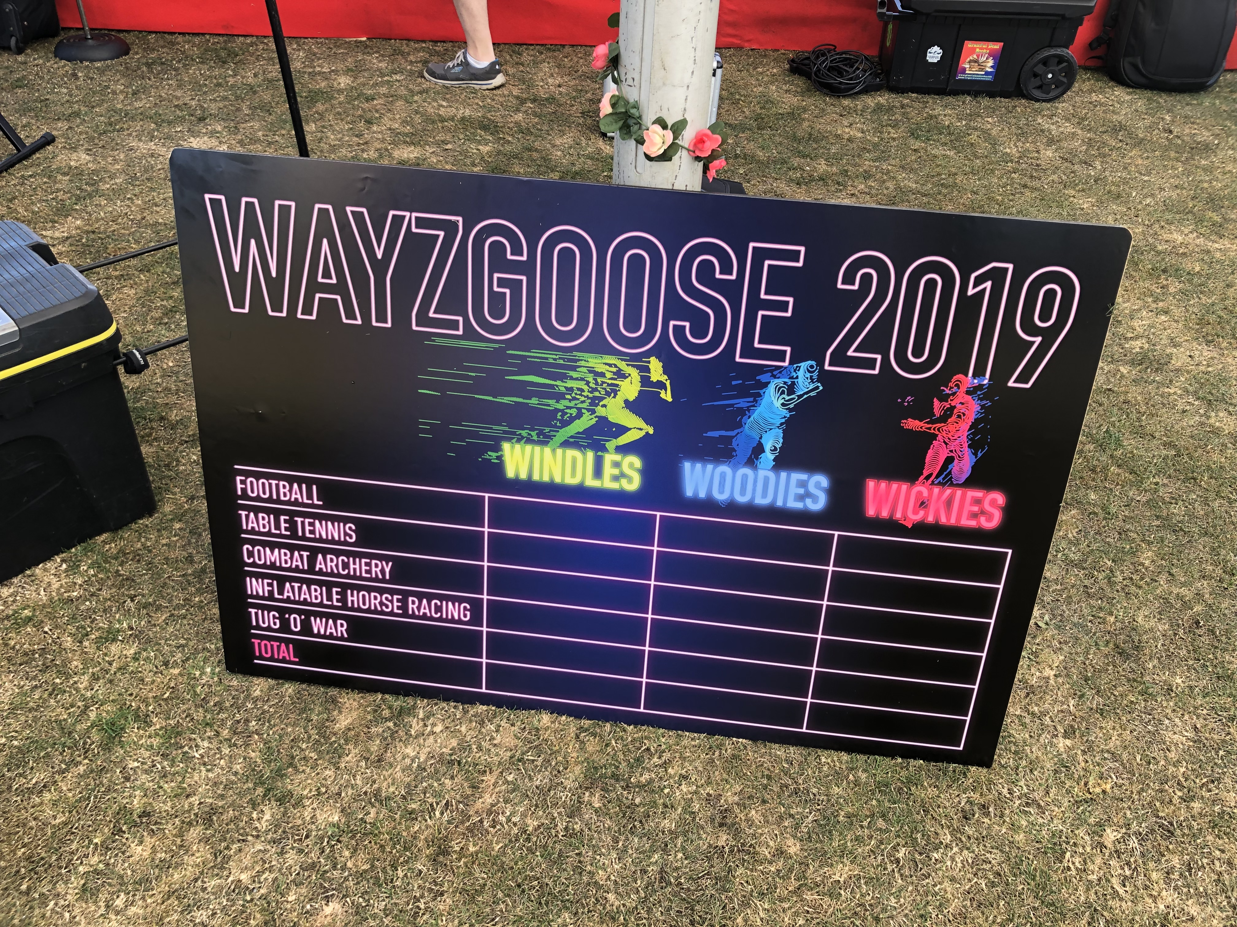 Above: The Wayzgoose competition involved a number of events which the Windles, Woodies and Wickies teams battled it out over.