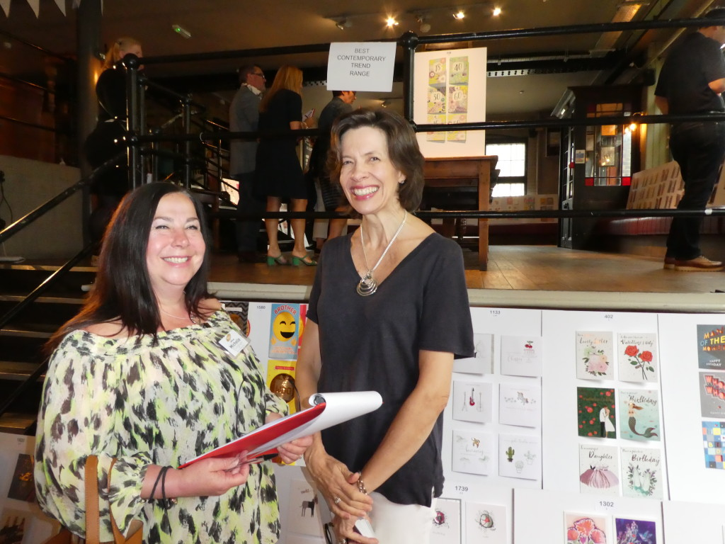 Above: Box of Delights' Michelle Ellingham (left) with the GCA's ceo Amanda Fergusson at The Henries' judging.