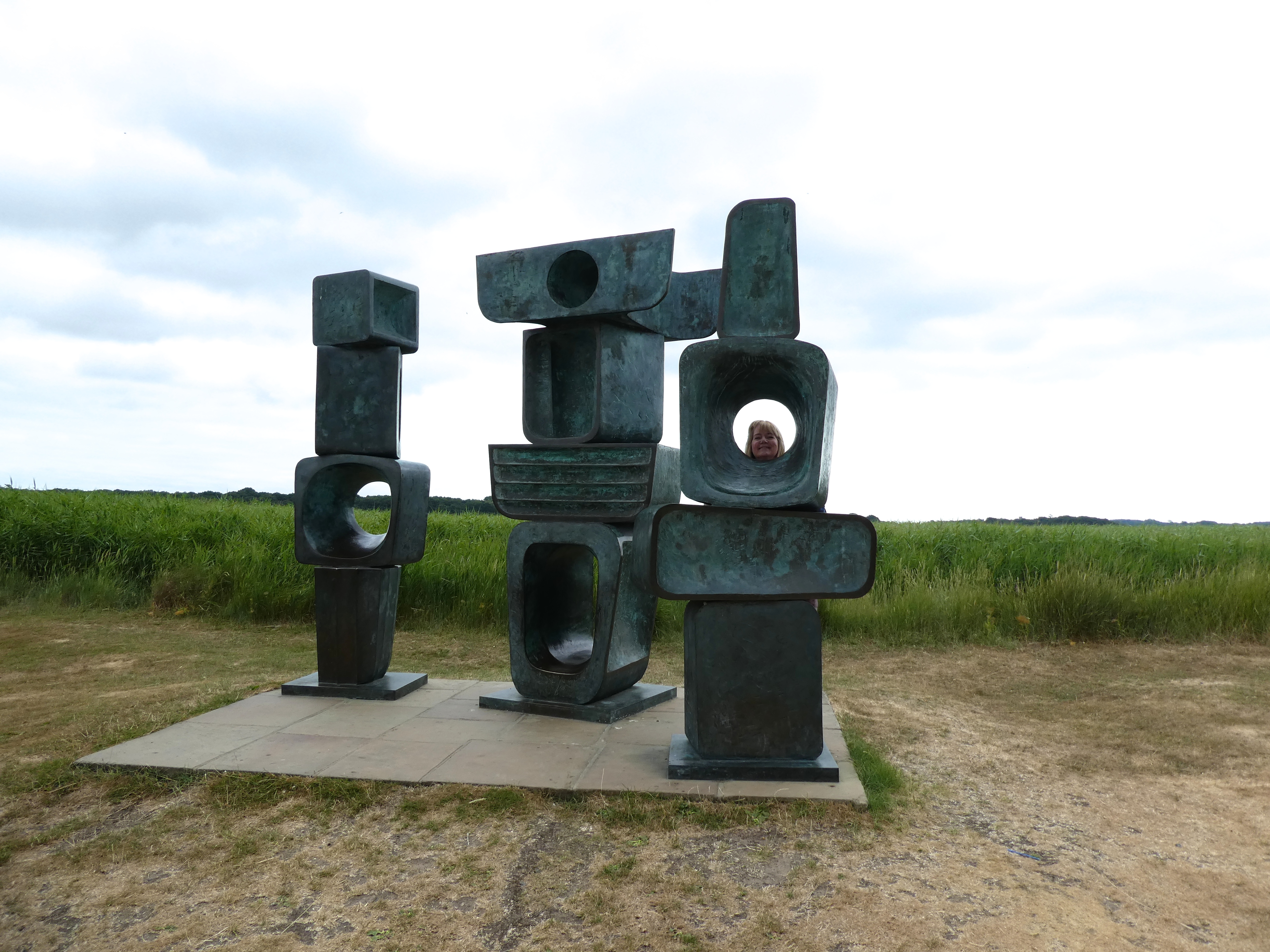 Above: The celebrated Family of Man sculpture by Barbara Hepworth sculpture at Snape Maltings.
