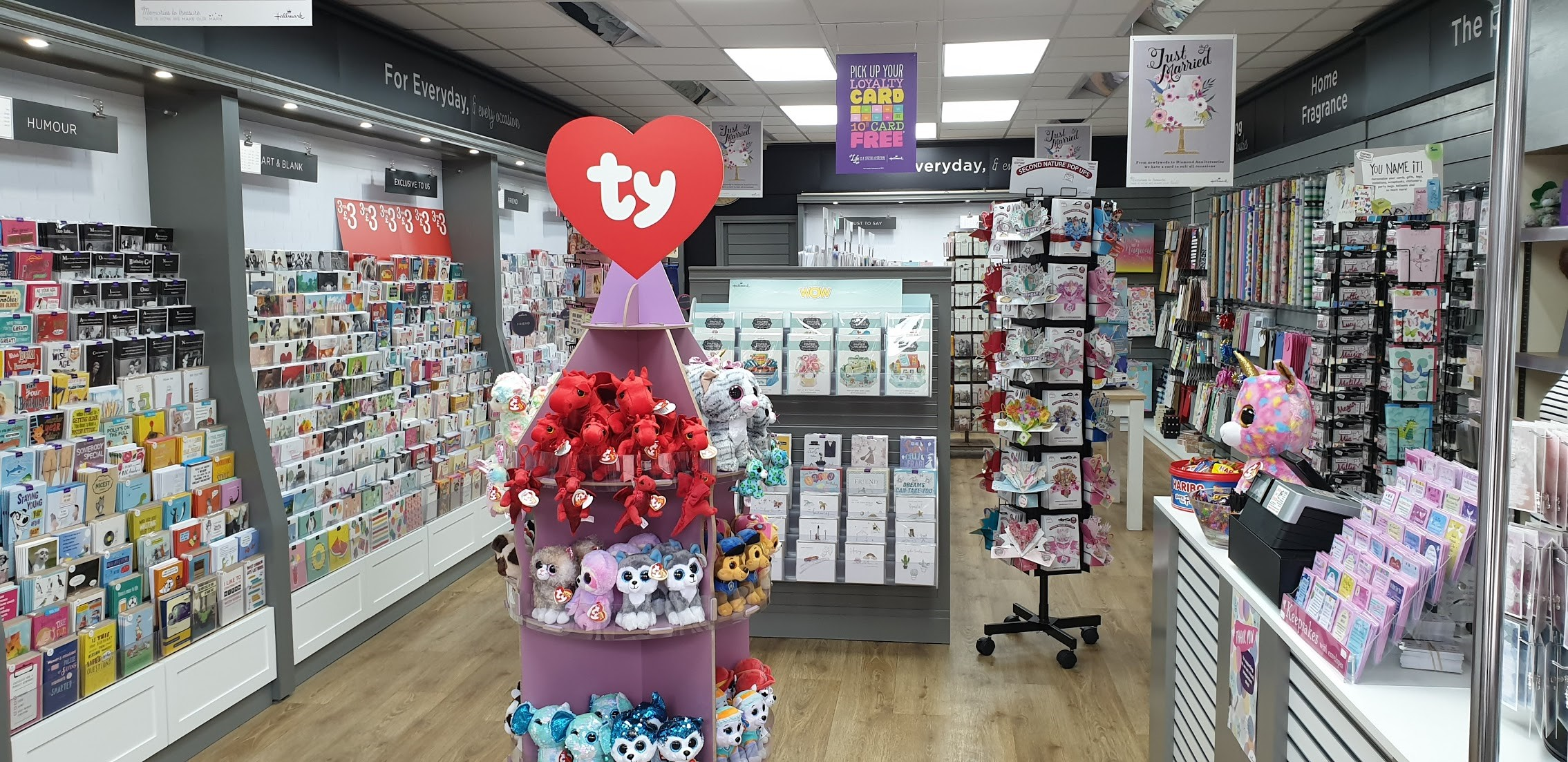 Above: Inside the new Paper Kisses store in Prestatyn.