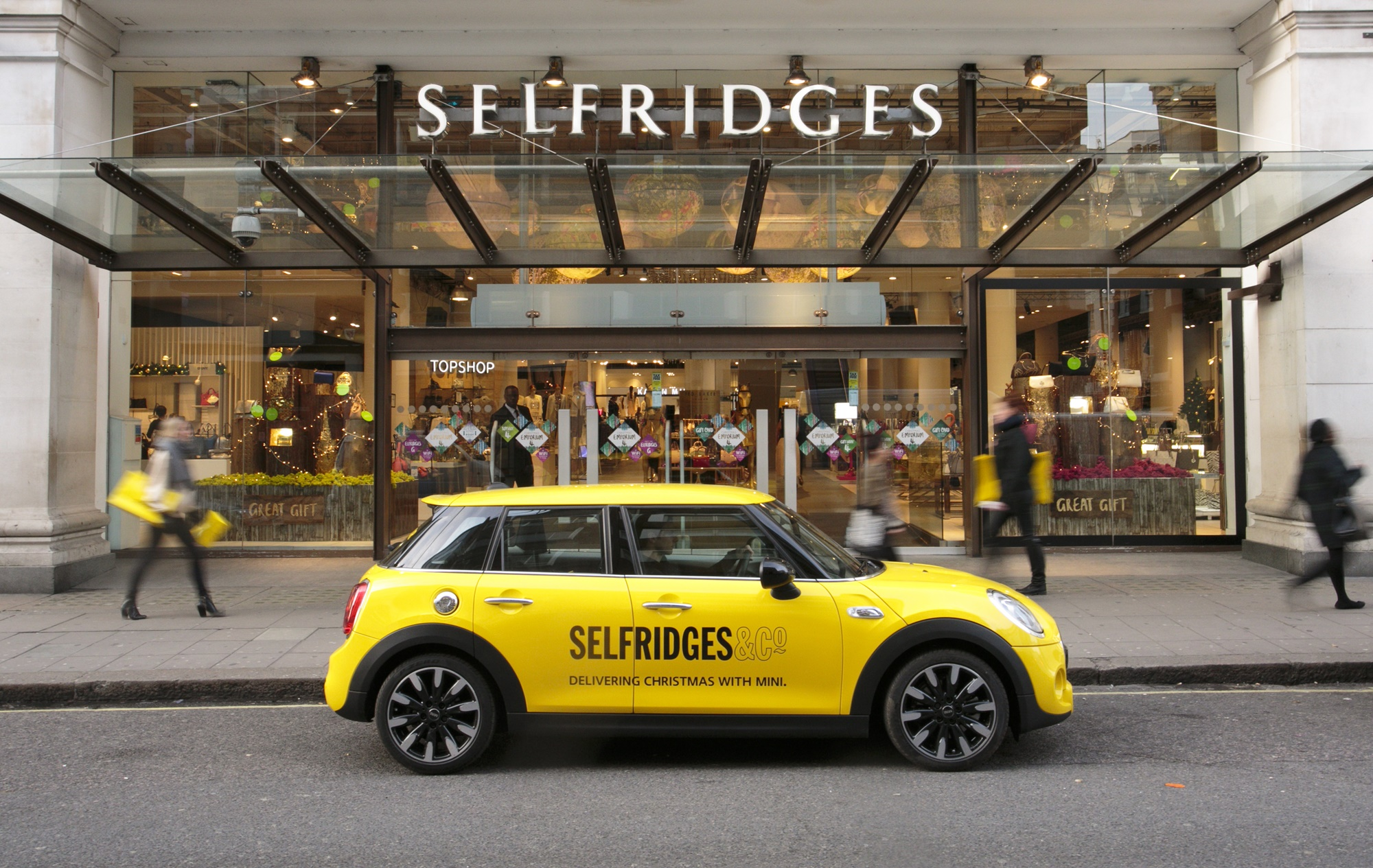 Above: You could win a £500 spending spree to Selfridges.