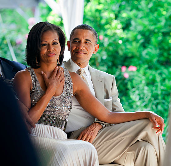 Above: Michelle Obama and her husband Barack would receive a warm welcome at Red Card.