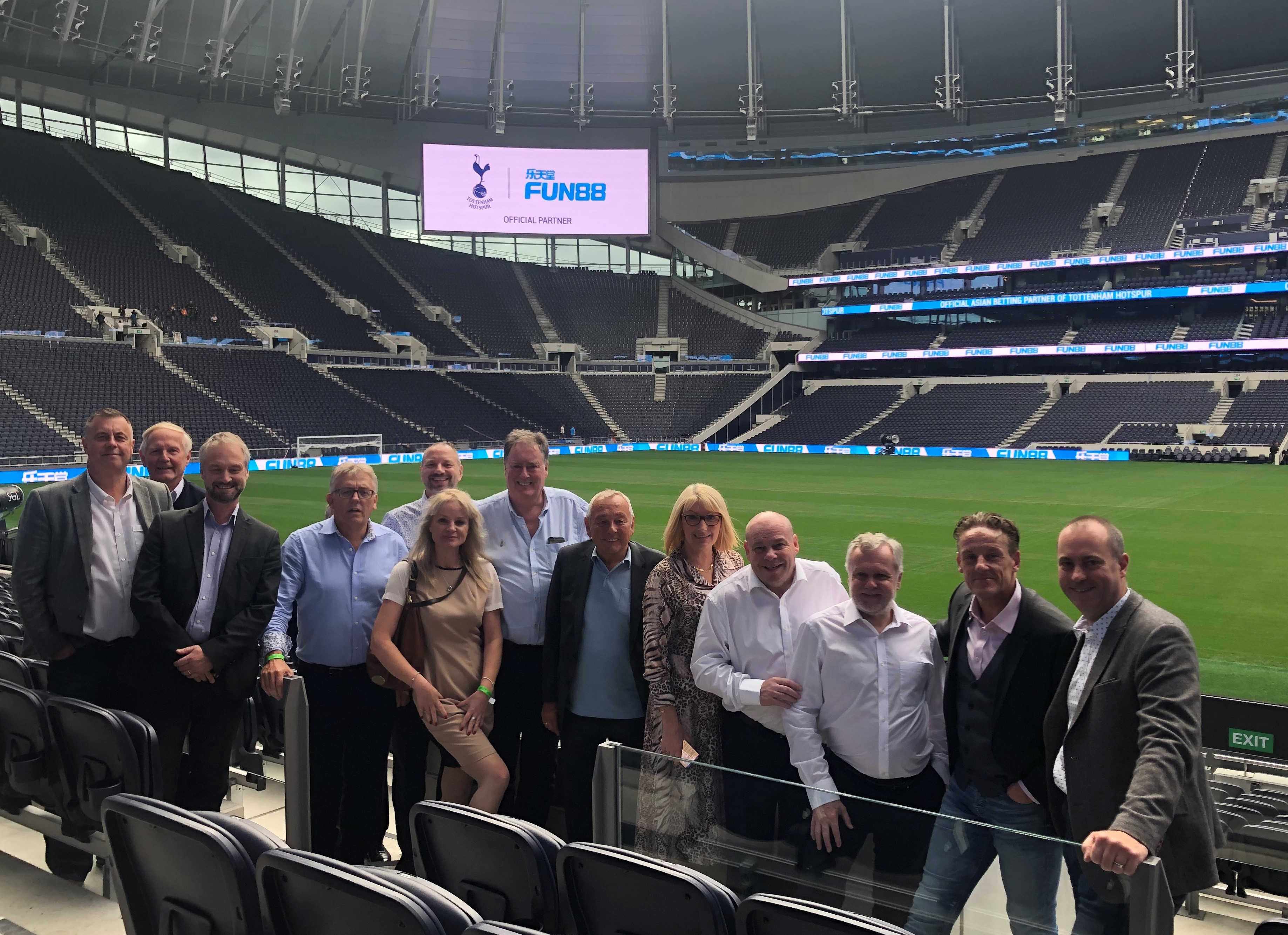Above: As well as the Conference, attendees were treated to a 'behind the scenes' tour and also met with some of the Sours players.