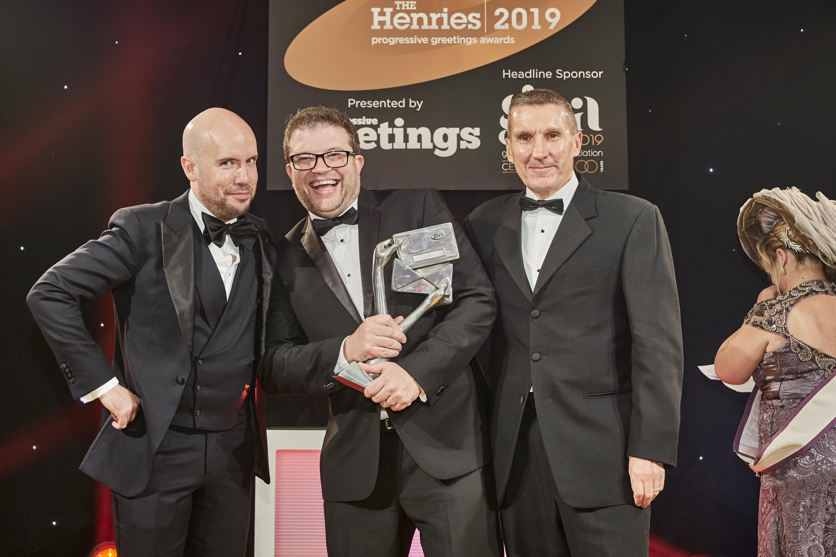 Above: There was no missing Woodmansterne's director of operations and IT Adam Osborne's glee as he clutched the Silver award that had been presented to him by Richard Campbell, managing director of Herbert Walkers, sponsor of this whole category.