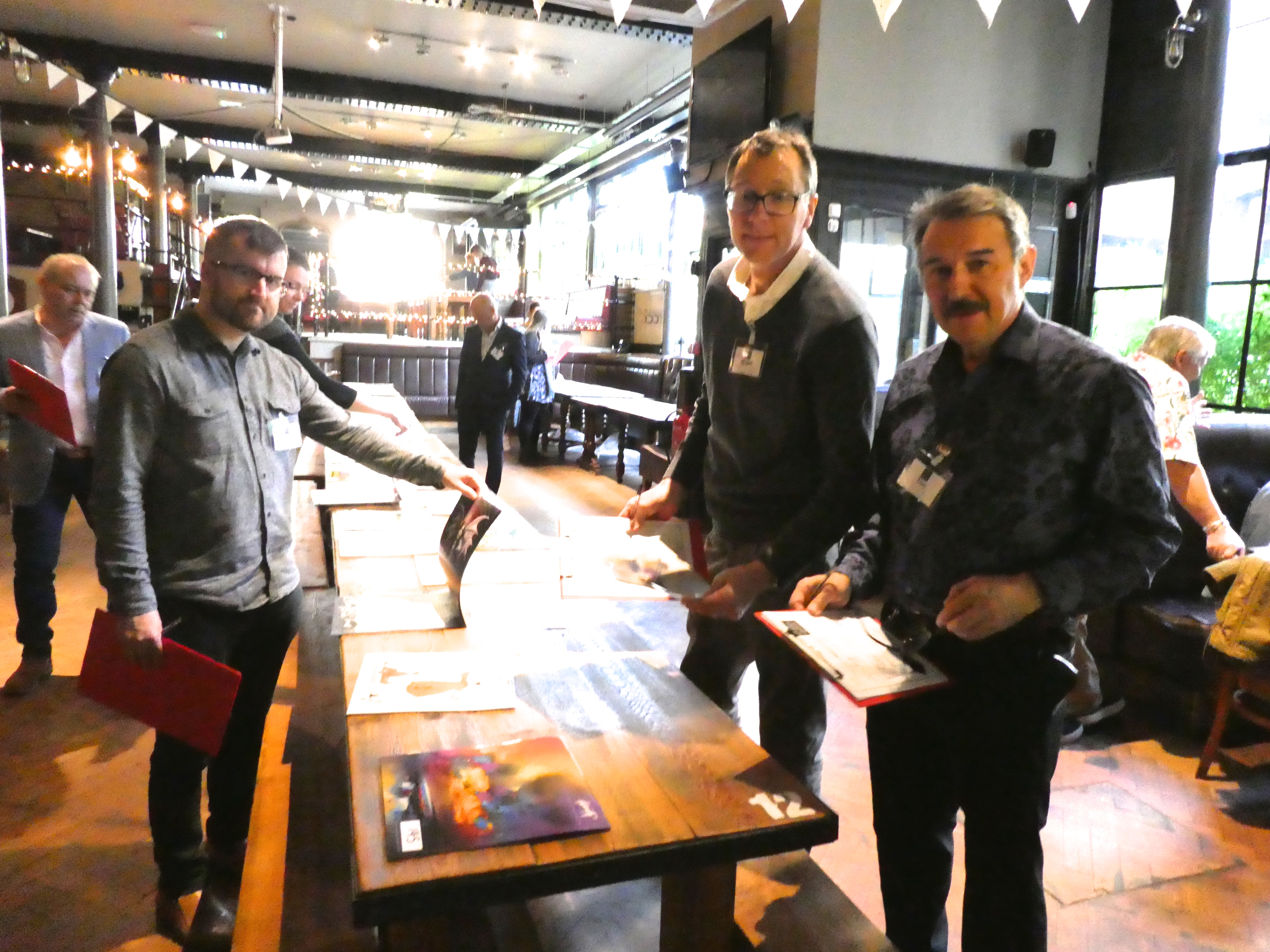 Above: (left-right) Calendar Club's Rob Dand, House of Cards' Nigel Williamson and Medici's Tim Reynolds.