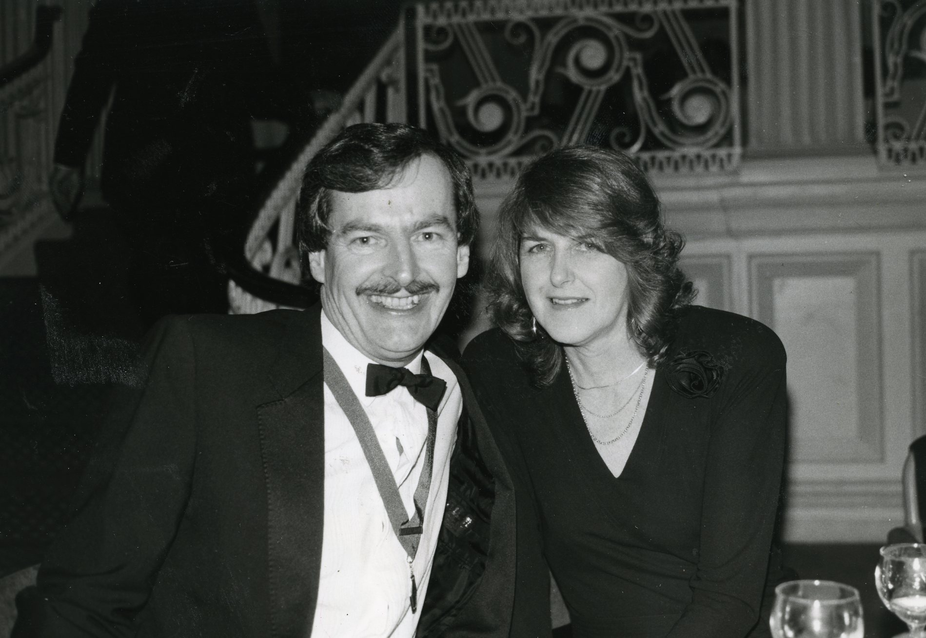 Above: Simon Elvin with his wife and longstanding business partner Janet during his GCCA presidential year in 1983.