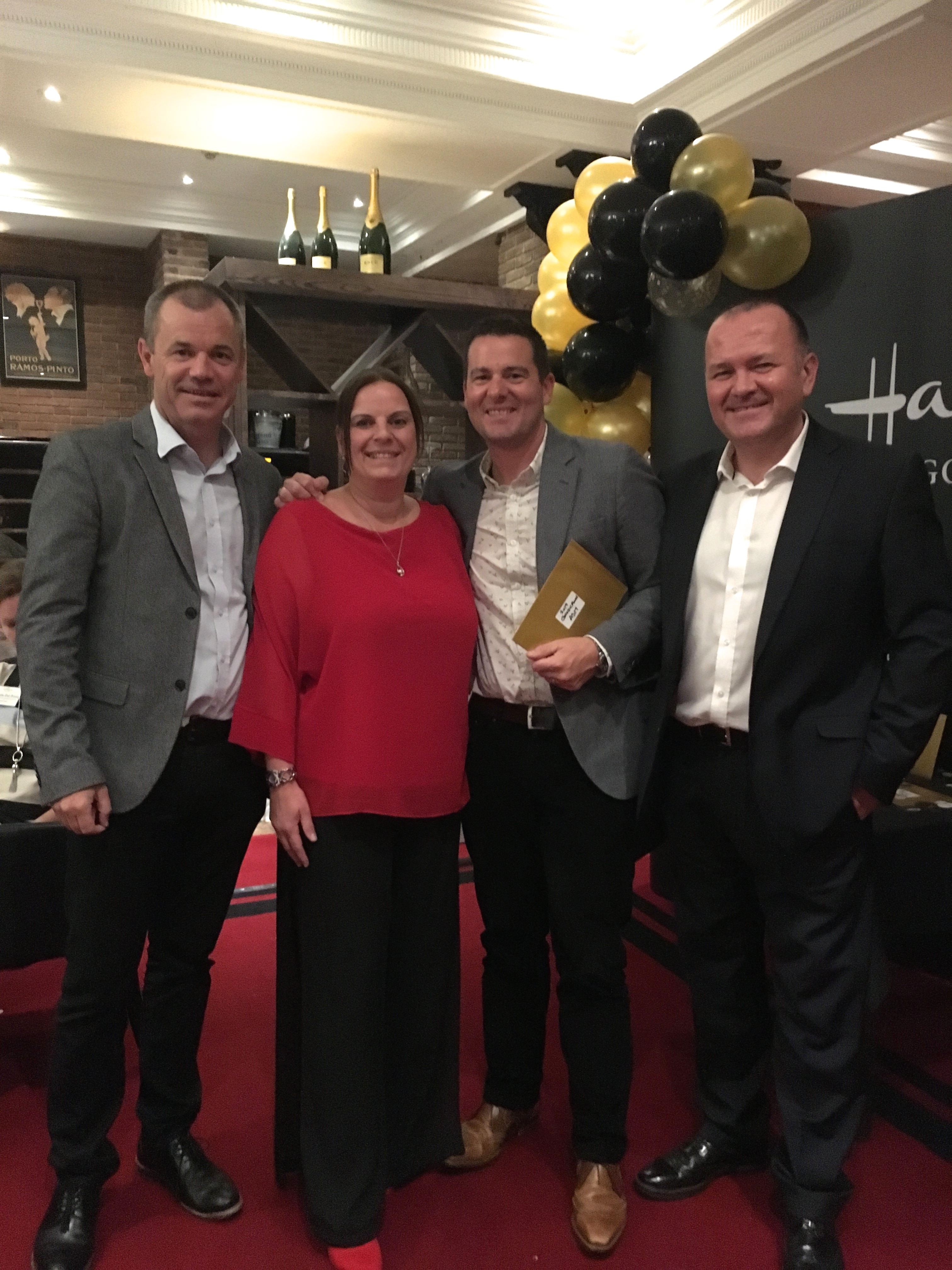 Above: Hallmark's Sue Strong was presented with theGold Crown Outstanding Area Sales Manager of the Year Award.