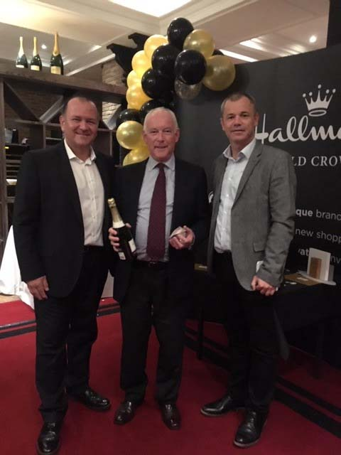 Above: The Outstanding Loyalty to Hallmark Gold Crown Award was given toAidan Masterson of Hallmark Card Gallery, Dublin.