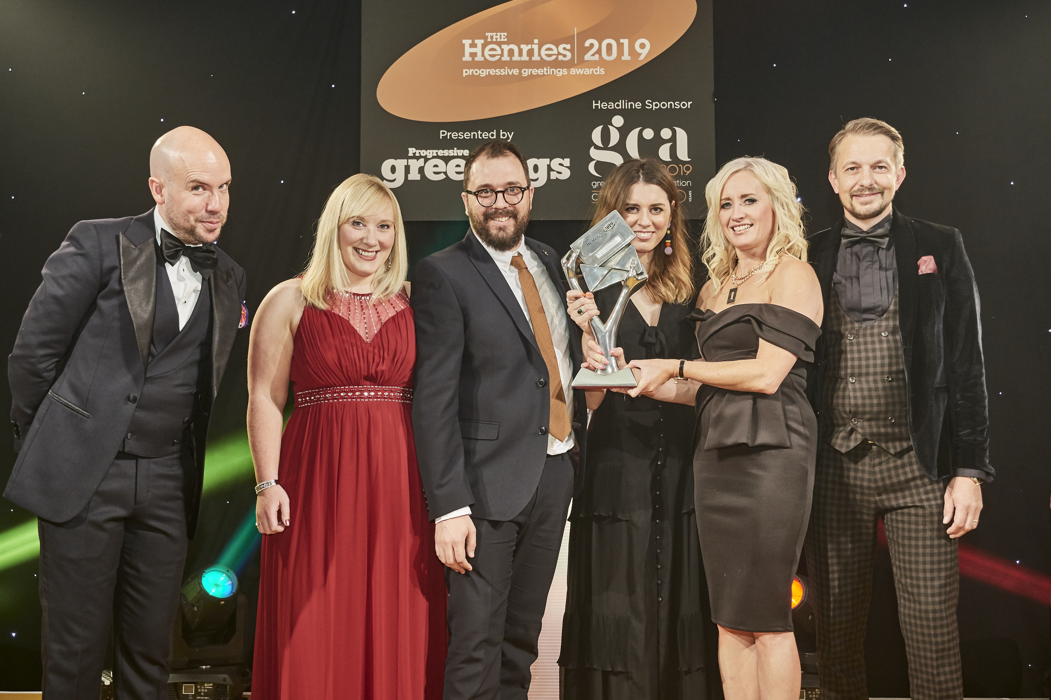 Above: (second left-right) Hallmark's Ruth Turner-Blood, writing studio manager; Dan Payne, designer; Emma Long, designer and Natalie Goodridge, head of creative – brand & own brand were presented with the award by Paul Hornby, managing director of the award sponsor, Foilco.