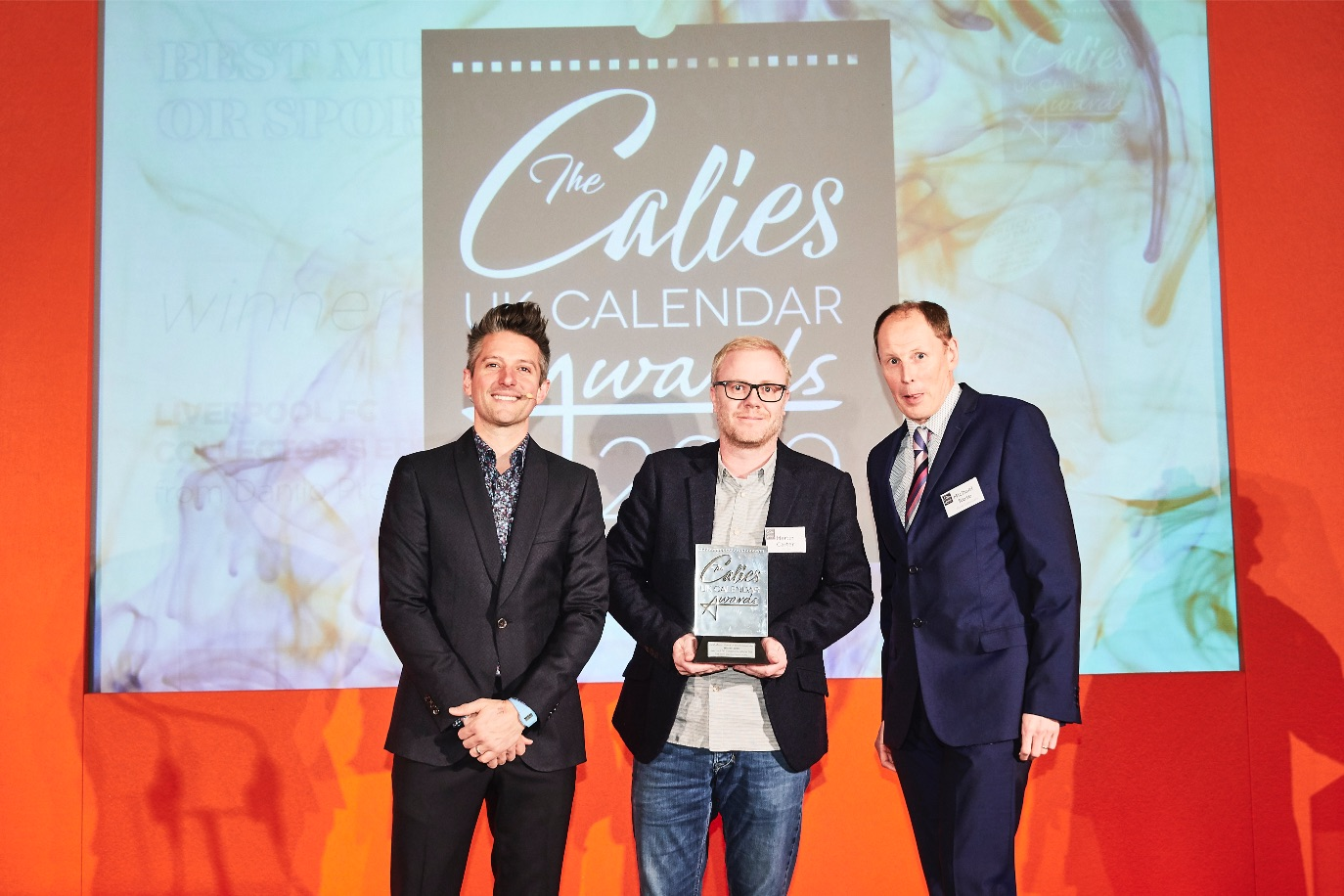 Above: The innovative approach of this product (which plays the Liverpool FC anthem when the lid is lifted) wowed the judges. Danilo's creative director, Martin Carter was very happy indeed to receive the award, presented by managing director of Rose Calendars, Michael Rose.