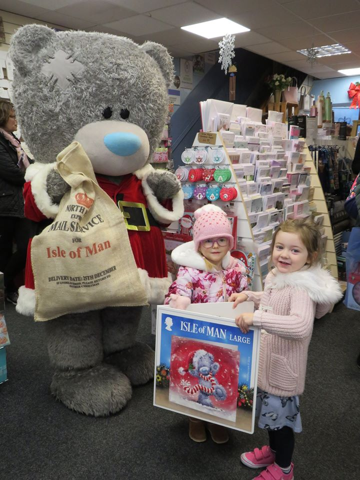 Above: Tatty Teddy and his stamp went down well with some of Mantons' younger customers.