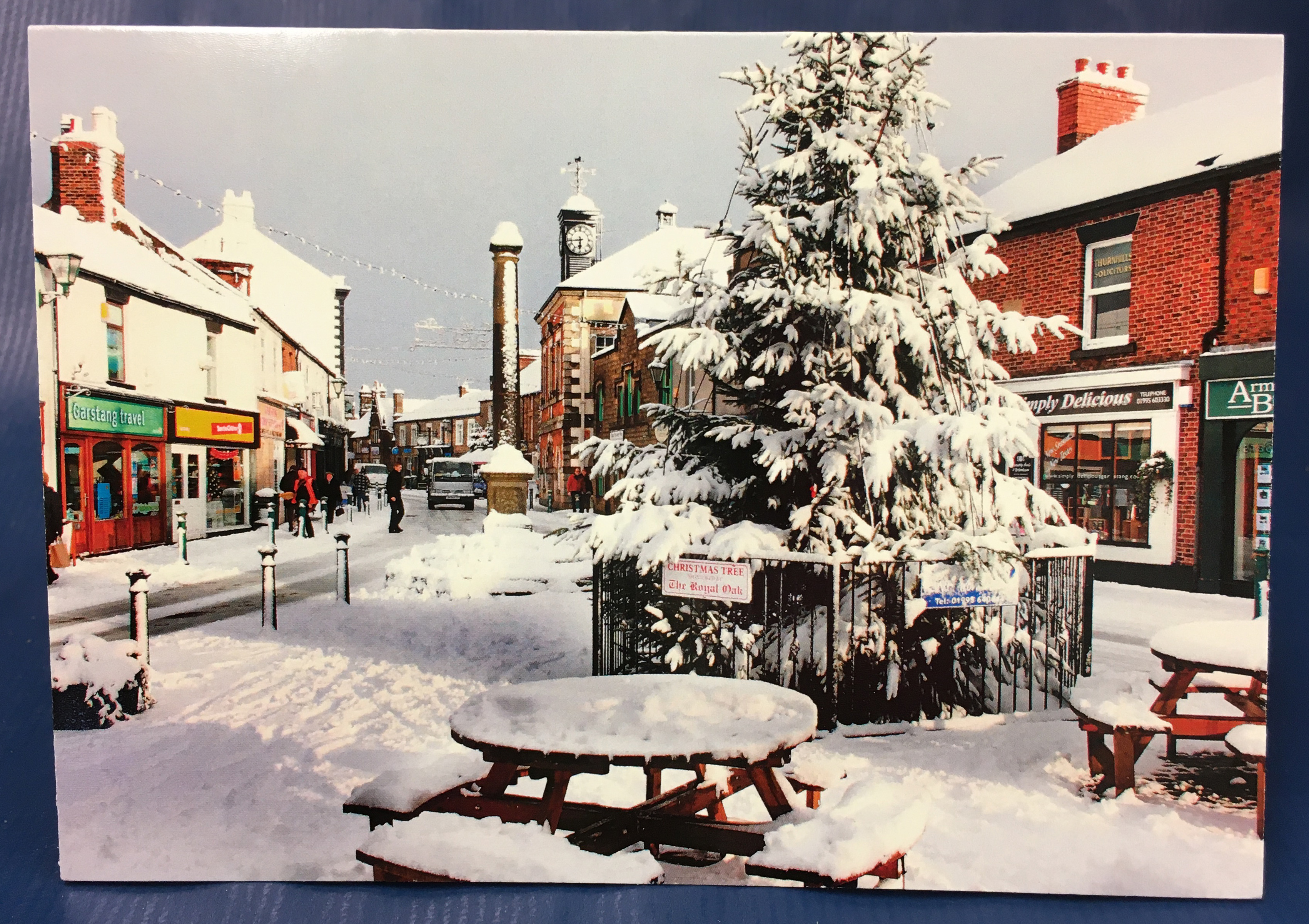 Above: Best Wishes of Garstang commissioned its own charity Christmas cards this year, supporting its local branch of Cardiac Risk in the Young, including this image of Garstang in the snow supplied by local photographer Mike Coleran, which are selling very well.