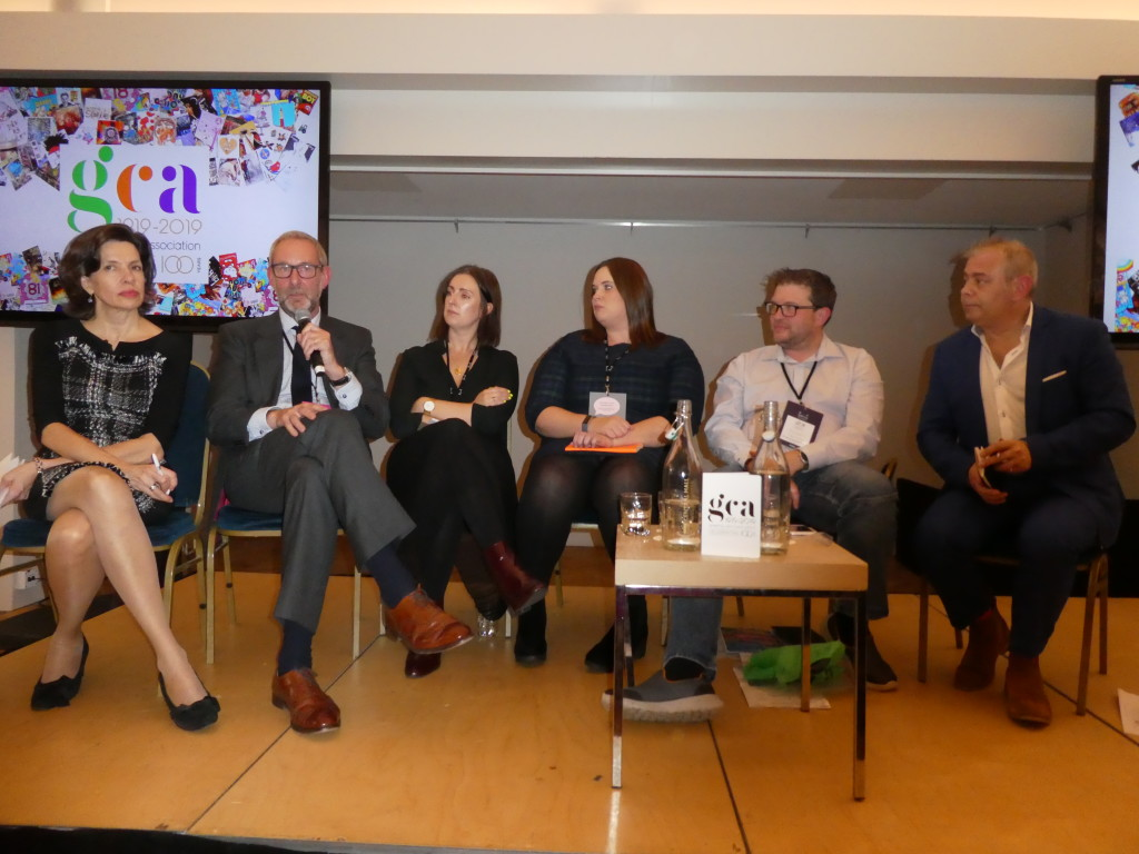 Above: (second left) Ged Mace, md of The Art File spoke out as part of the environmental panel at the recent GCA AGM and Conference.