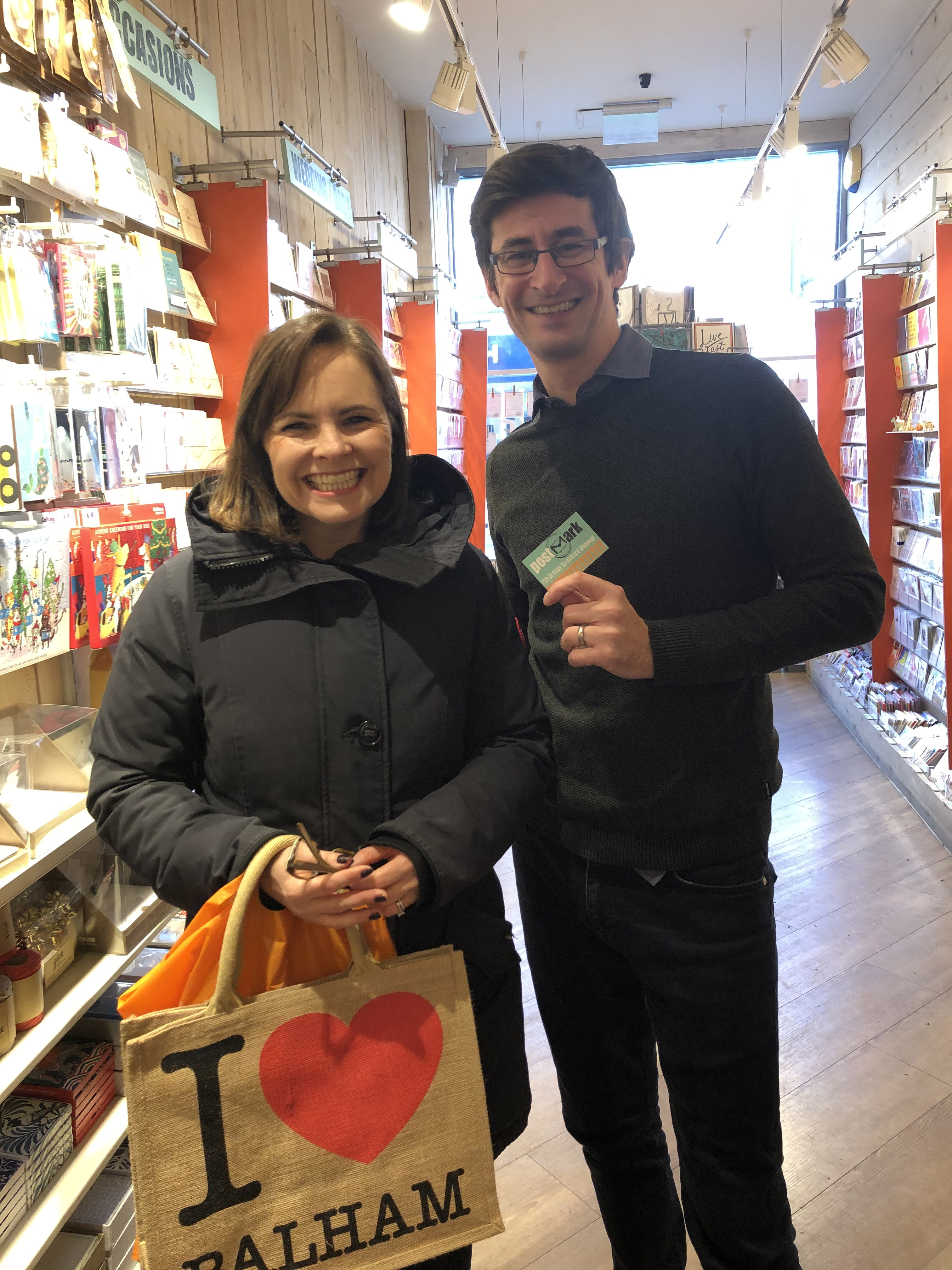 Above: Mark Janson-Smith in the Balham store with a customer.