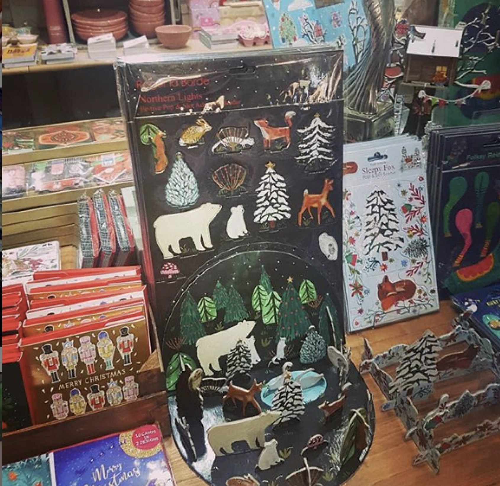 Above: A selection of Christmas products that Calladoodles has on offer.