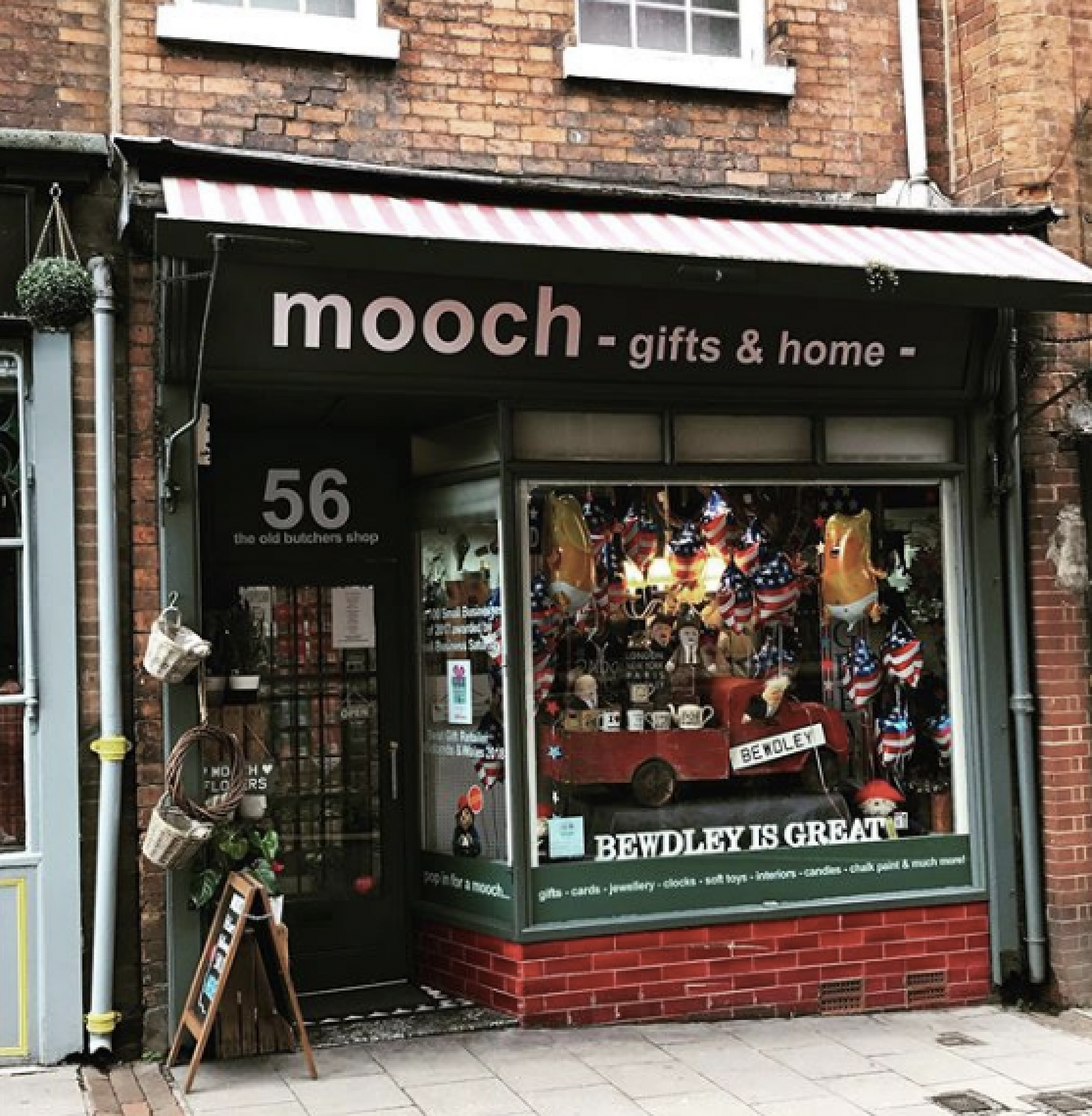 Above: The Mooch Gifts & Home shop in Bewdley.