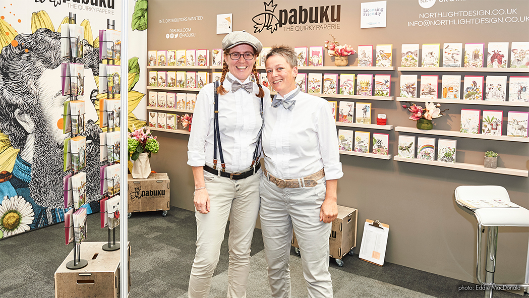 Above: Pabuku co-owners and designers Ulla Klopf and Ute Baurecker on their stand at PG Live.