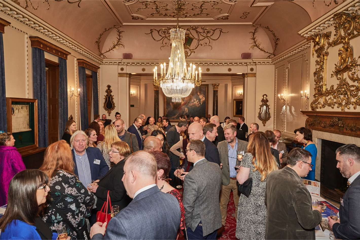 Above: The Calies reception at the historic Stationers' Hall.