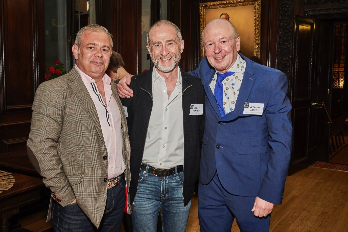 Above: Three wise men?! (Left-right) Miles Robinson (House of Cards). Simon Harrison (Portico Designs) and Warren Lomax (Max Publishing).