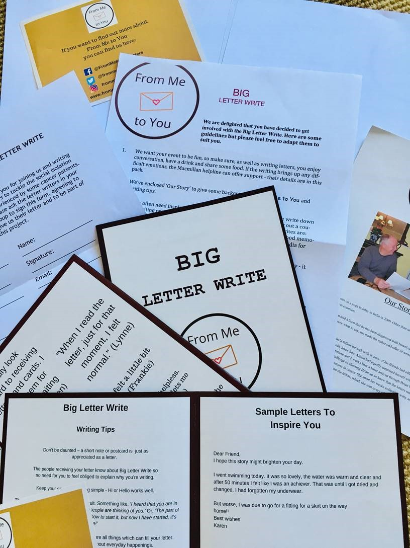 Above: Blake Envelopes was involved in the recent Big Letter Write campaign which saw kits being issued to encourage letter writing activities with people writing to many in hospital suffering from cancer.
