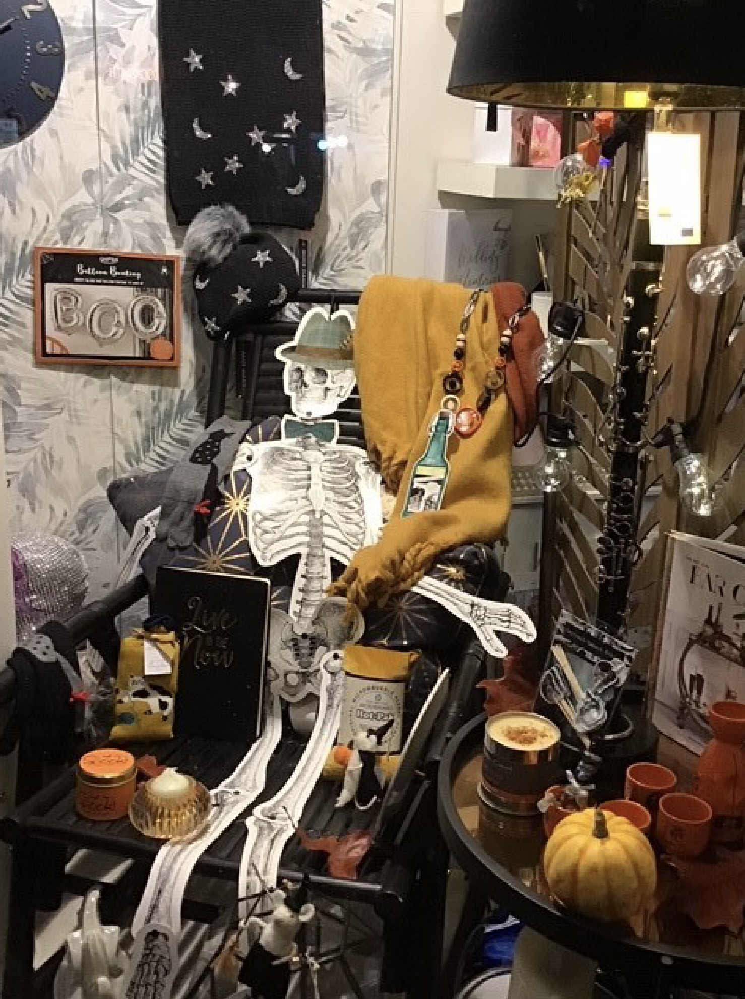 Above: Part of Spirito's Halloween window display.