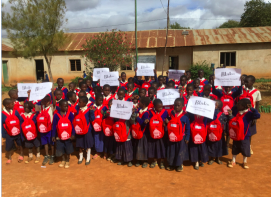 Above: Blake's charity activities extend overseas, including its support of the School In A Bag charity in Tanzania.